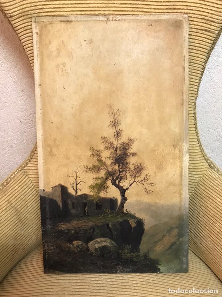 PINTURA AL ÓLEO SOBRE TABLA FIRMADA POR MERTIL CON FECHA EN EL AÑO 1891 (Arte - Pintura - Pintura al Óleo Moderna siglo XIX)