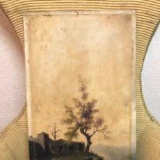 Arte: PINTURA AL ÓLEO SOBRE TABLA FIRMADA POR MERTIL CON FECHA EN EL AÑO 1891. Lote 210218401