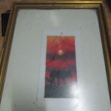 Arte: INTERESANTISIMA PINTURA AMANECER CON LEONA FIRMADO F.R.K.. Lote 210265340