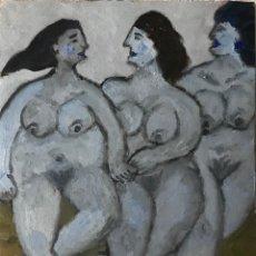 Arte: DAMAS GRANDE AZUL . Lote 199290851