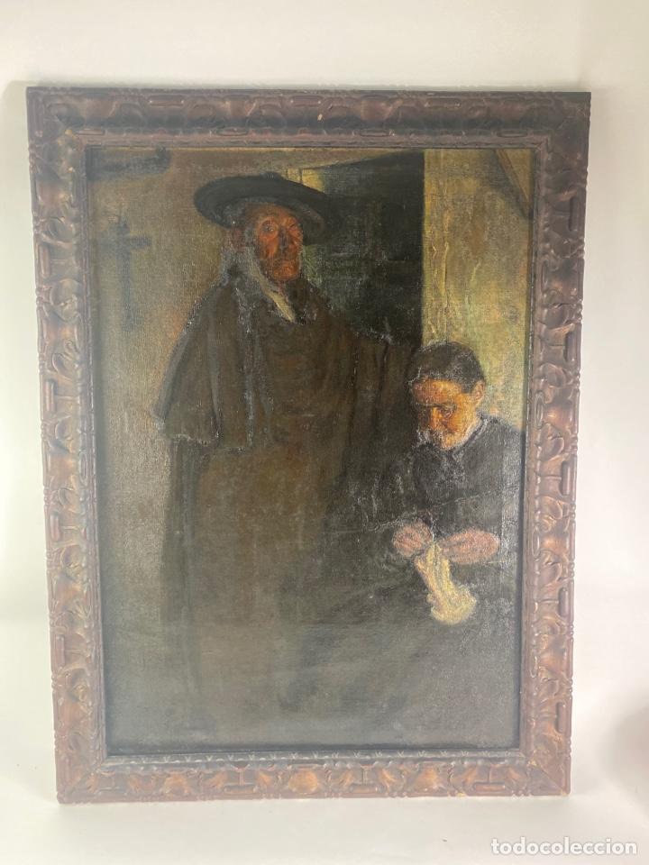 OLEO SOBRE LIENZO, ESCUELA VASCA, FINALES S.XIX. (Arte - Pintura - Pintura al Óleo Moderna siglo XIX)