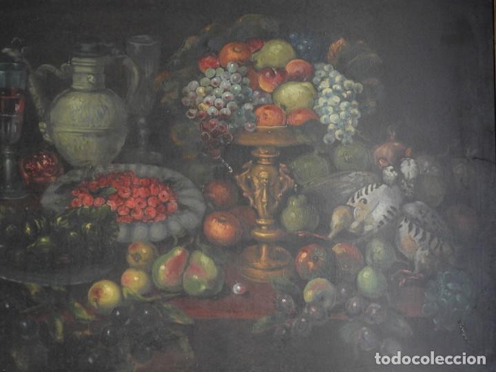 Arte: ESPECTACULAR BODEGON CON MARCO ANTIGUO DE LA EPOCA - Foto 2 - 210355376