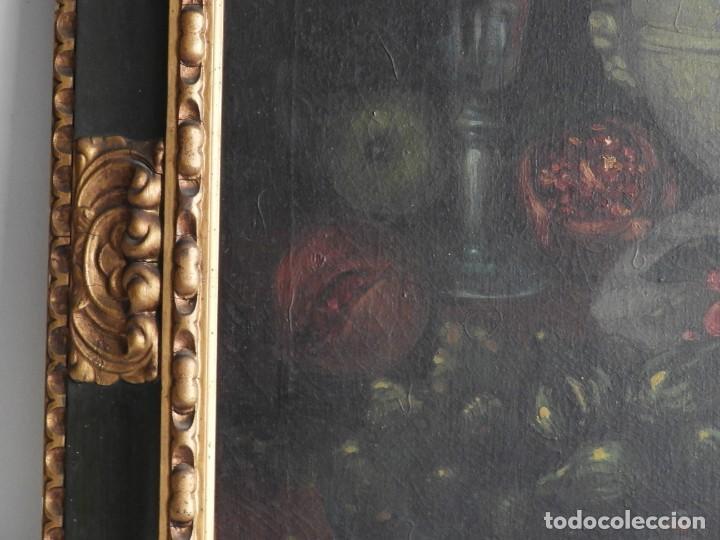 Arte: ESPECTACULAR BODEGON CON MARCO ANTIGUO DE LA EPOCA - Foto 6 - 210355376