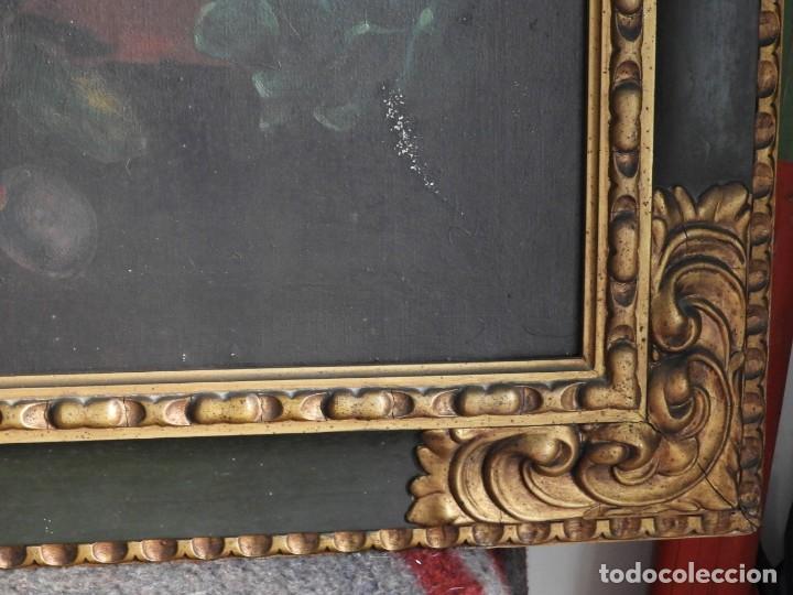 Arte: ESPECTACULAR BODEGON CON MARCO ANTIGUO DE LA EPOCA - Foto 11 - 210355376