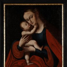 Arte: ESCUELA ITALIANA. SIGLO XVIII. VIRGEN Y EL NIÑO. OLEO SOBRE LIENZO.. Lote 210364435