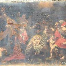 Arte: ADORACIÓN DE LOS PASTORES. ÓLEO SOBRE LIENZO SIGLO XIX?. Lote 210453408