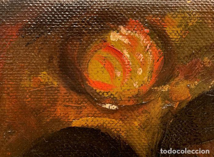 Arte: pintura al oleo sobre lienzo,atribuido a lopez mezquita,perteneciente a una conocida coleccion - Foto 4 - 210454021