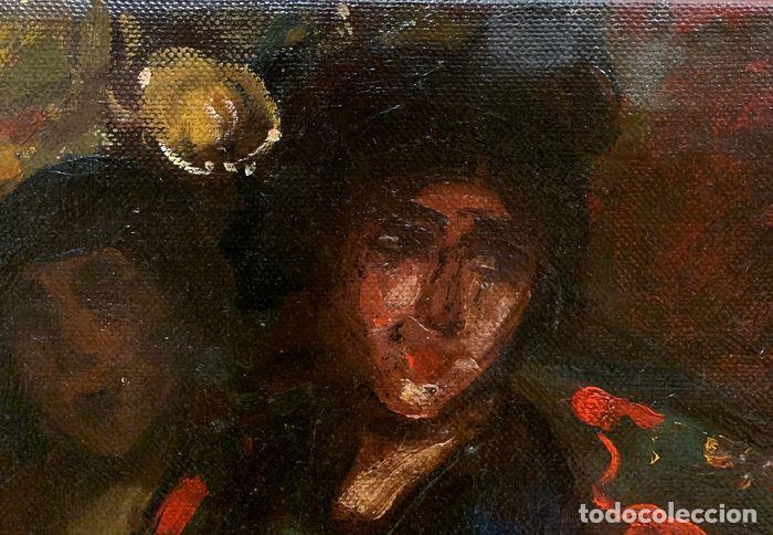 Arte: pintura al oleo sobre lienzo,atribuido a lopez mezquita,perteneciente a una conocida coleccion - Foto 6 - 210454021