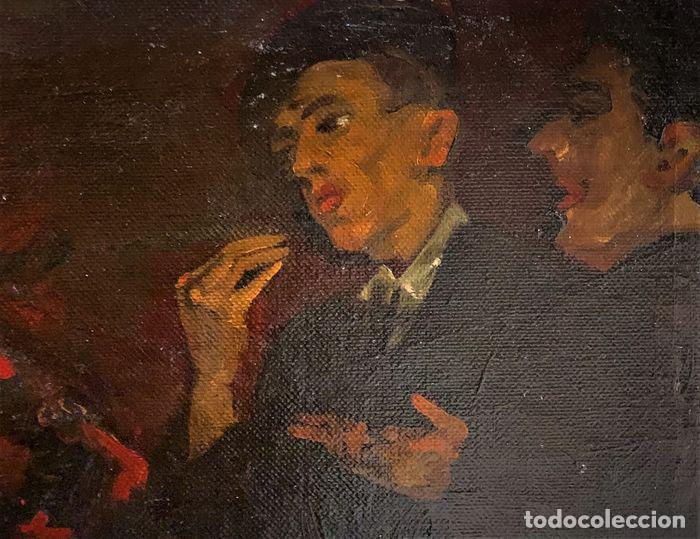 PINTURA AL OLEO SOBRE LIENZO,ATRIBUIDO A LOPEZ MEZQUITA,PERTENECIENTE A UNA CONOCIDA COLECCION (Arte - Pintura - Pintura al Óleo Antigua sin fecha definida)