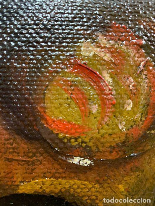 Arte: pintura al oleo sobre lienzo,atribuido a lopez mezquita,perteneciente a una conocida coleccion - Foto 8 - 210454021