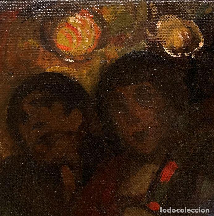 Arte: pintura al oleo sobre lienzo,atribuido a lopez mezquita,perteneciente a una conocida coleccion - Foto 14 - 210454021