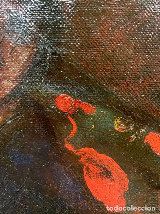 Arte: pintura al oleo sobre lienzo,atribuido a lopez mezquita,perteneciente a una conocida coleccion - Foto 15 - 210454021