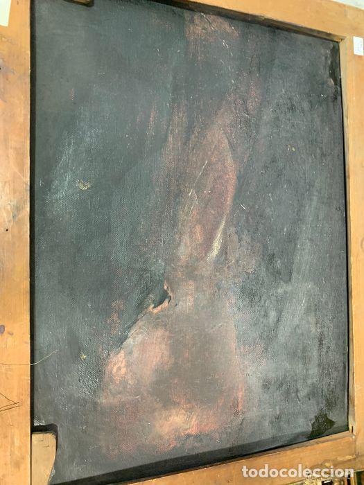 Arte: pintura al oleo sobre lienzo,atribuido a lopez mezquita,perteneciente a una conocida coleccion - Foto 16 - 210454021