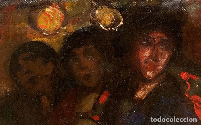 Arte: pintura al oleo sobre lienzo,atribuido a lopez mezquita,perteneciente a una conocida coleccion - Foto 19 - 210454021