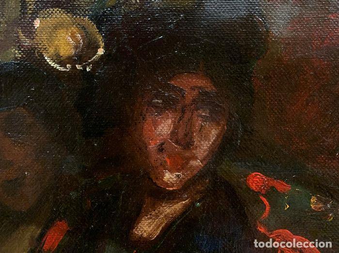 Arte: pintura al oleo sobre lienzo,atribuido a lopez mezquita,perteneciente a una conocida coleccion - Foto 20 - 210454021
