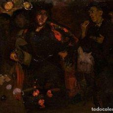 Arte: PINTURA AL OLEO SOBRE LIENZO,ATRIBUIDO A LOPEZ MEZQUITA,PERTENECIENTE A UNA CONOCIDA COLECCION. Lote 210454021