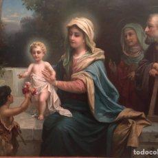 Arte: ESCENA RELIGIOSA. ÓLEO SOBRE PAPEL. HANS ZATKA (1859-1945).. Lote 210480337