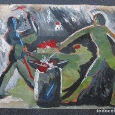 Arte: OLEO SOBRE CARTON VICENTE CASTELLANO GINER. Lote 210531918