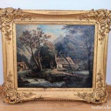 Arte: ESCUELA HOLANDESA PAISAJE S. XVIII - XIX ( ARTE - CUADRO - PINTURA - ÓLEO ). Lote 210556393