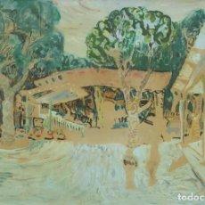 Arte: CARLOS NADAL - PARQUE 1966 - ACRÍLICO PAPEL. Lote 182336106