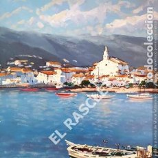 Arte: CUADRO PINTADO AL OLEO SOBRE TELA - CADAQUES AÑO 78 - DE JOSEP MARFA GUARRO - BARCELONA -. Lote 210580593