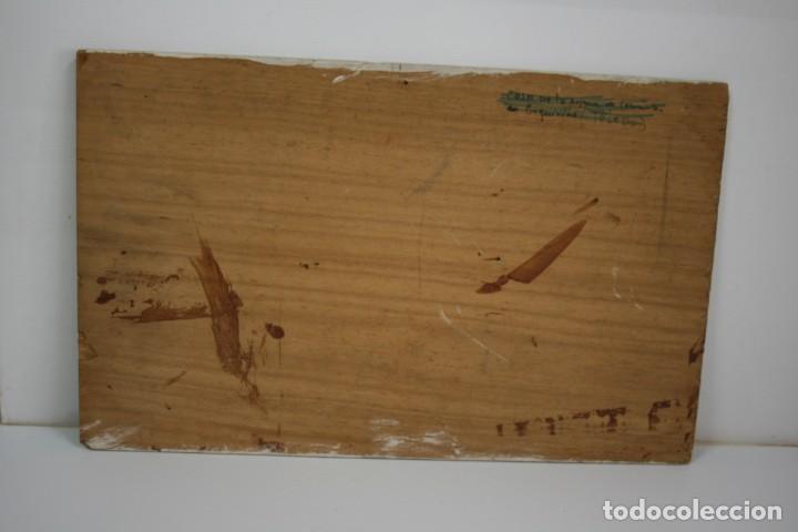 Arte: oleo sobre tabla, ilegible, tema taurino. - Foto 2 - 54810222
