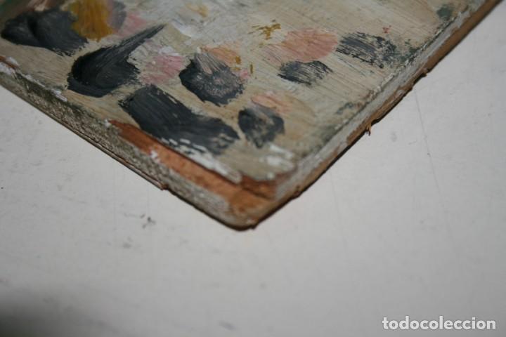 Arte: oleo sobre tabla, ilegible, tema taurino. - Foto 4 - 54810222