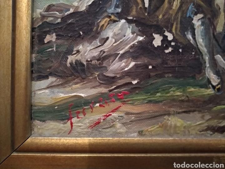 Arte: Antiguo cuadro al óleo - Foto 5 - 210611115