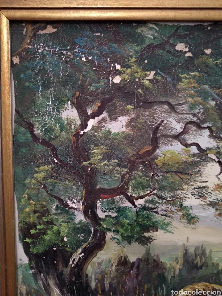 Arte: Antiguo cuadro al óleo - Foto 11 - 210611115