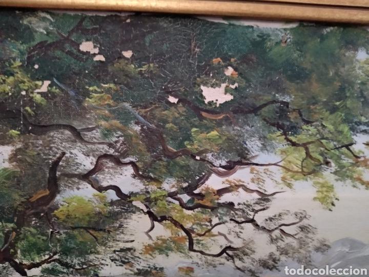 Arte: Antiguo cuadro al óleo - Foto 12 - 210611115