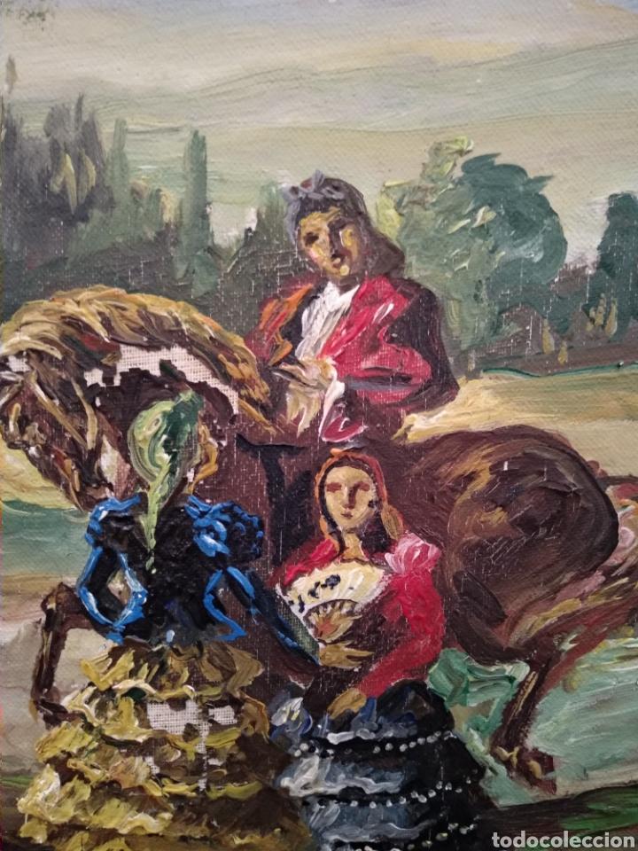 Arte: Antiguo cuadro al óleo - Foto 14 - 210611115