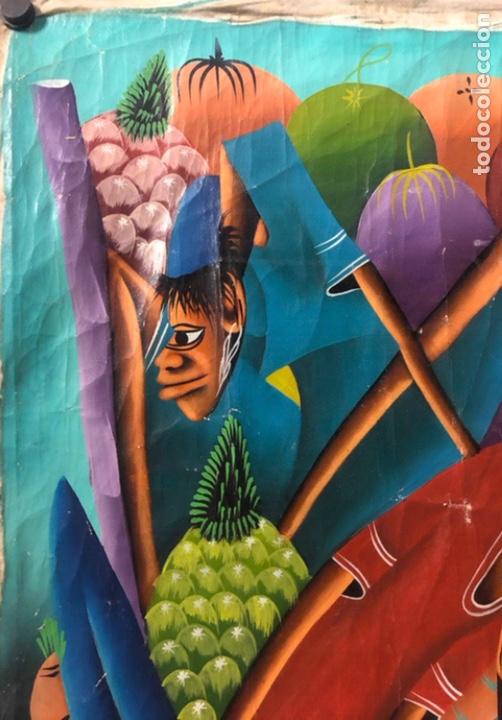 Arte: LAURENT CASIMIR, ÓLEO SOBRE LIENZO. FIGURAS HAITIANAS. 76 x 101 Cms. - Foto 4 - 210614592