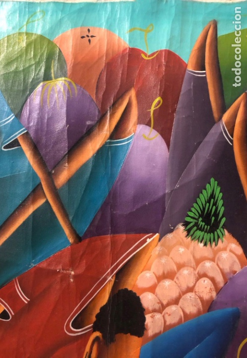 Arte: LAURENT CASIMIR, ÓLEO SOBRE LIENZO. FIGURAS HAITIANAS. 76 x 101 Cms. - Foto 6 - 210614592