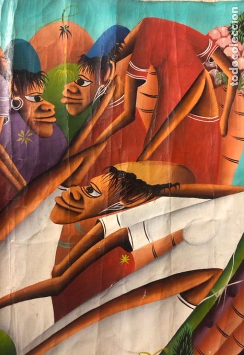 Arte: LAURENT CASIMIR, ÓLEO SOBRE LIENZO. FIGURAS HAITIANAS. 76 x 101 Cms. - Foto 8 - 210614592