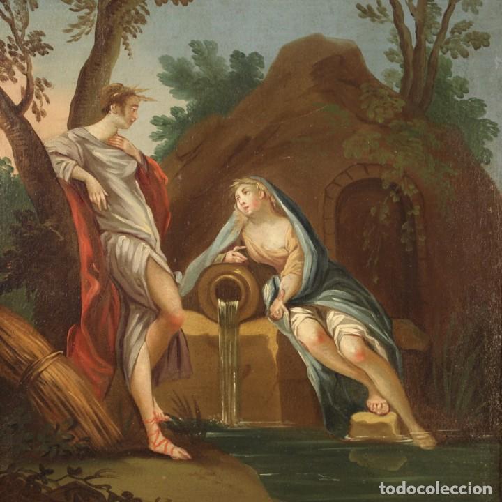 PINTURA ITALIANA ANTIGUA CYMON E IFIGENIA DEL SIGLO XVIII (Arte - Pintura - Pintura al Óleo Antigua siglo XVIII)