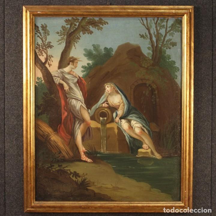 Arte: Pintura italiana antigua Cymon e Ifigenia del siglo XVIII - Foto 2 - 210633977