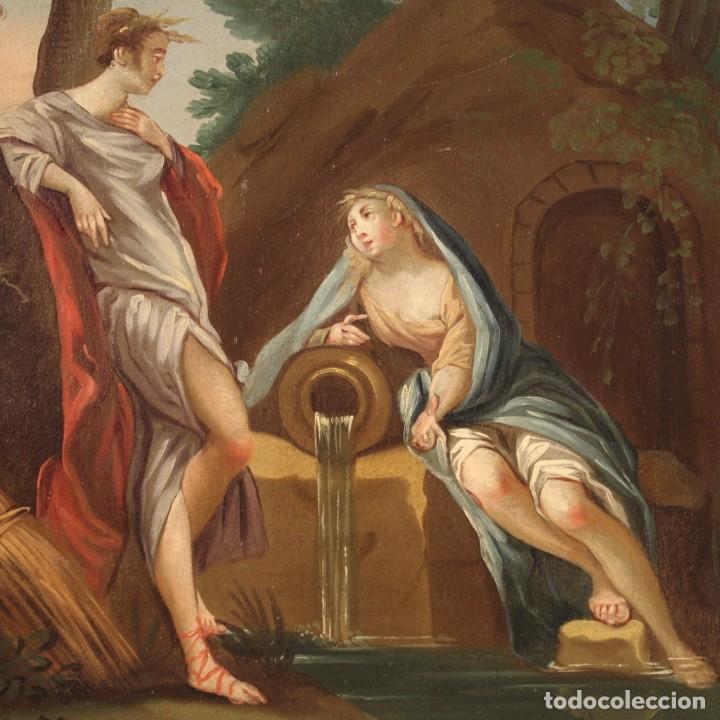 Arte: Pintura italiana antigua Cymon e Ifigenia del siglo XVIII - Foto 4 - 210633977