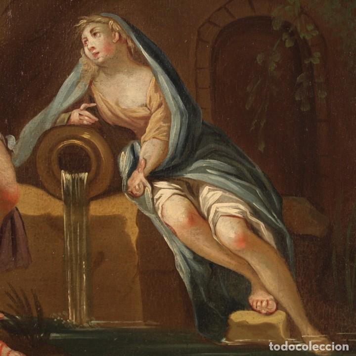 Arte: Pintura italiana antigua Cymon e Ifigenia del siglo XVIII - Foto 5 - 210633977