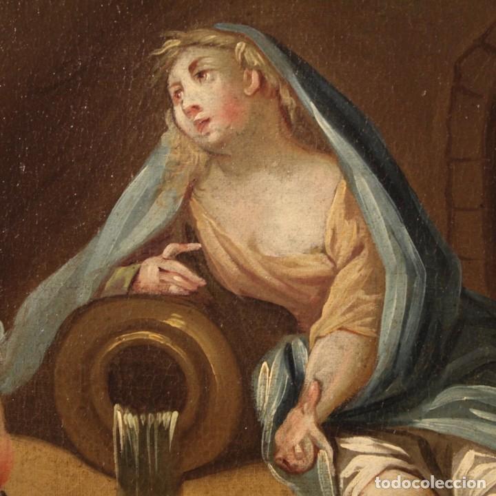 Arte: Pintura italiana antigua Cymon e Ifigenia del siglo XVIII - Foto 6 - 210633977