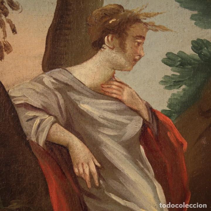 Arte: Pintura italiana antigua Cymon e Ifigenia del siglo XVIII - Foto 7 - 210633977