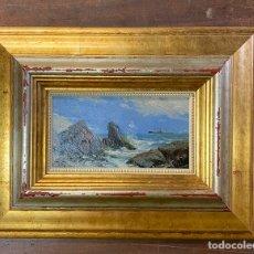 Arte: R.VERDUGO LANDI OLEO/TABLA MEDIDAS 25X13,5 CON MARCO 50X41. Lote 210639397