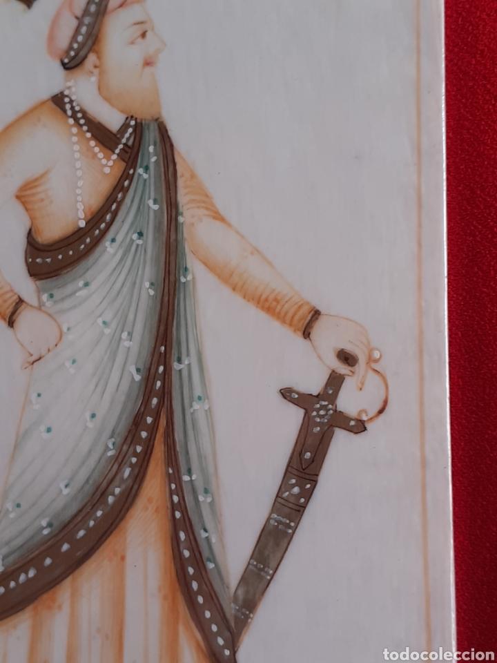 Arte: OLEO SOBRE MARFIL PINTADO A MANO EN PERFECTO ESTADO.MIDE 5.8 cm x 12 cm - Foto 4 - 210639681