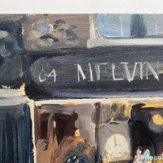 Arte: ANTONI VIVES FIERRO , BARCELONA , ÓLEO SOBRE TABLA , AÑO 1974. Lote 196170490
