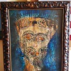 Arte: VAL KLEVER ( RUSIA AÑOS 30? -2013 LOS ÁNGELES,USA)RETRATO DE JOVEN ,TÉCNICA MIXTA 63 X 47 AÑOS 50-60. Lote 210648307