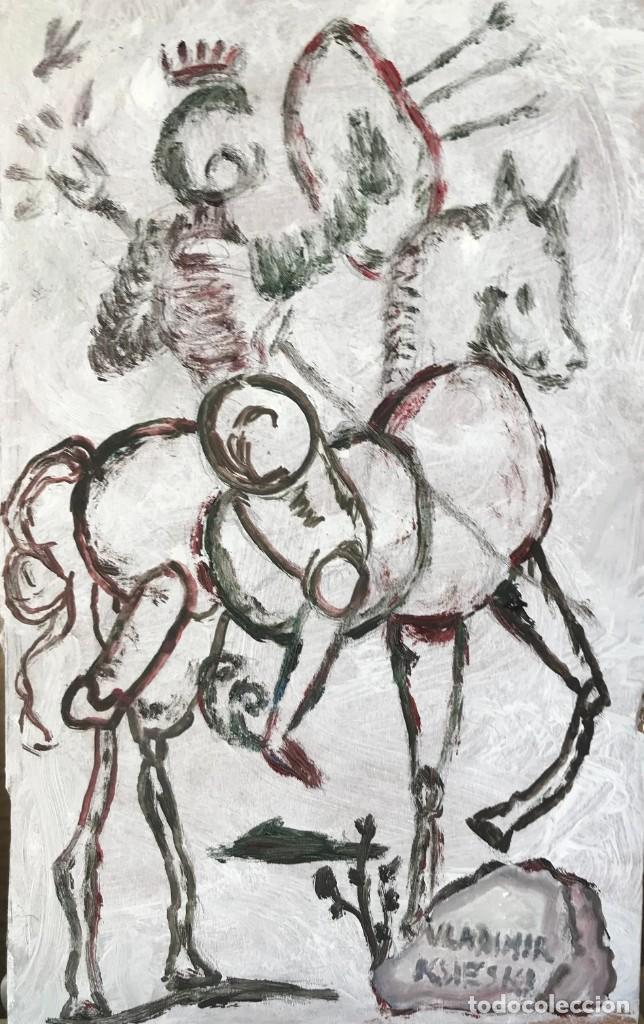 DIBUJO DON QUIOTE (Arte - Pintura Directa del Autor)