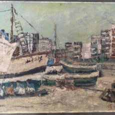 Arte: ÓLEO SOBRE TABLA DE JUAN GARCÉS ,. Lote 195844736