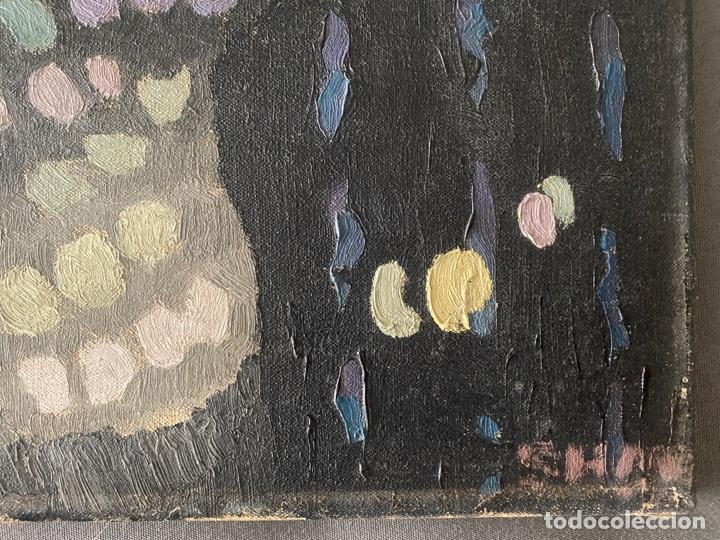 Arte: OLEO SOBRE LIENZO FIRMADO CON INICIALES SHM , A DOCUMENTAR , DE 1970 APROX. - Foto 5 - 195978397