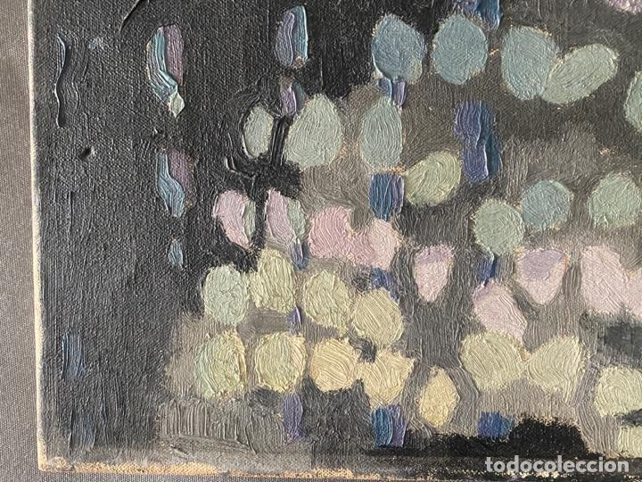Arte: OLEO SOBRE LIENZO FIRMADO CON INICIALES SHM , A DOCUMENTAR , DE 1970 APROX. - Foto 6 - 195978397