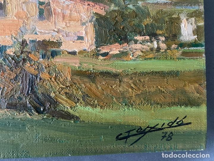 Arte: GAIETA TEIXIDÓ , PAISATGE JOANETES 1978 , BARCELONA , ÓLEO SOBRE LIENZO - Foto 4 - 196167956
