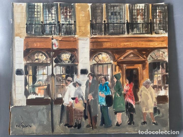 ANTONI VIVES FIERRO , BARCELONA , ÓLEO SOBRE LIENZO , AÑO 1976 , LONDON (Arte - Pintura - Pintura al Óleo Contemporánea )